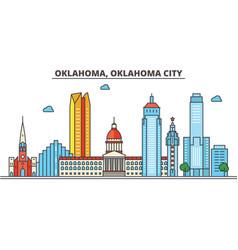 Oklahoma oklahoma citycity skyline architecture vector