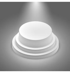 White empty stage vector image