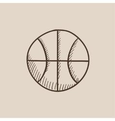 Basketball ball sketch icon vector image