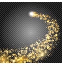 Bright comet with large dust Falling Star Really vector image