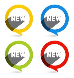 Circle Colorful New Labels Set vector image
