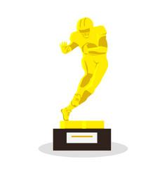 heisman memorial trophy gold reward vector image
