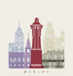 huelva skyline poster vector image vector image