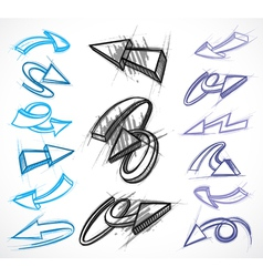 illustrated arrow collections vector image vector image