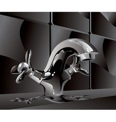 metal water faucet vector image