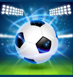 soccer ball on the field cover background vector image vector image