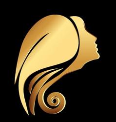 Woman face logo vector image vector image