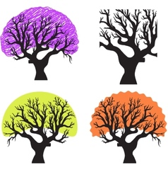 a group of trees vector image vector image