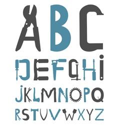 alphabet tools vector image vector image
