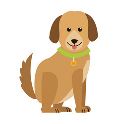 cartoon dog animal pet family image vector image