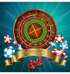 Realistic Casino Poster vector image vector image