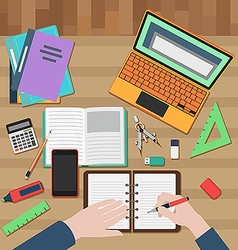Student workplace vector image