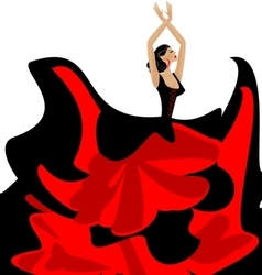woman and flamenco dance vector image vector image