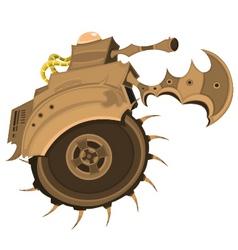 killing tank machine vector image vector image