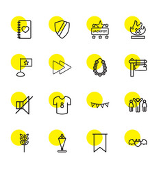 16 banner icons vector