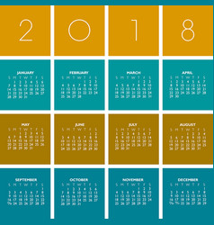 2018 creative colorful calendar vector