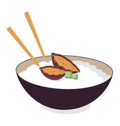 Abalone porridge vector