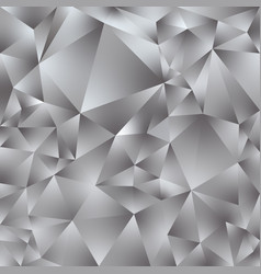 Abstract polygonal square background silver gray vector