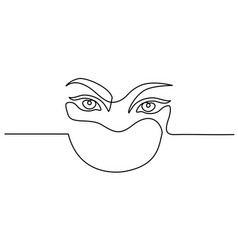 Abstract portrait closeup of pretty woman eyes vector