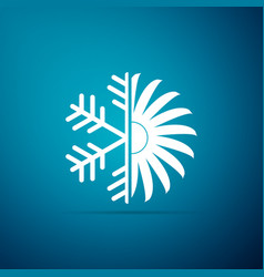 air conditioner icon isolated on blue background vector image