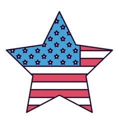 American star isolated icon design vector