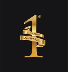 anniversary retro vintage badge vector image