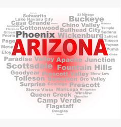 Arizona word cloud heart vector