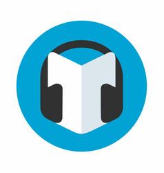 Audio guide icon vector
