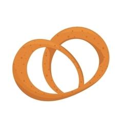 bakery bread pretzel icon graphic vector image