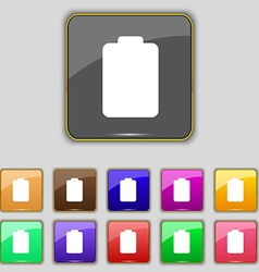 Battery empty Low electricity icon sign Set with vector image
