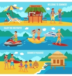 Beach people set vector image
