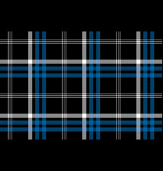 black check seamless fabric texture background vector image