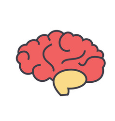 brain head brainstorm mind idea generation vector image