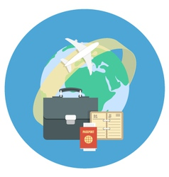 Business Traveling Concept vector