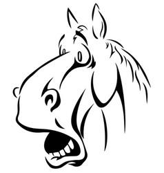 Cartoon farm animals cute horse smiles eps 10 vector