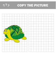 Cartoon turtle outlined vector
