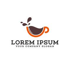 coffe logo design concept template vector image