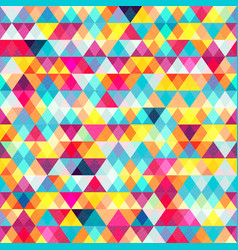 colored triangles seamless pattern vector image