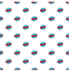 comic boom gulp pattern seamless vector image