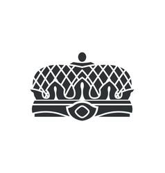 crown closeup of silhouette vector image