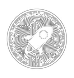 crypto currency stellar black and white symbol vector image