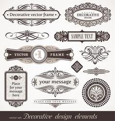 Design elements page decor vector