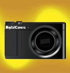 digital camara gold background vector image