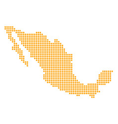 Dotted pixel mexico map vector