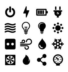 Electric Icons Set vector