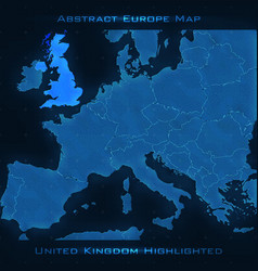 europe abstract map united kingdom vector image