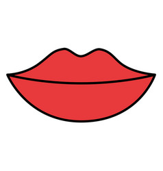 female lips isolated icon vector image