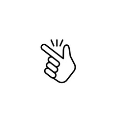 finger snapping icon vector image