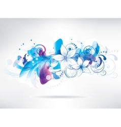 Floral abstract background with flowers vector image