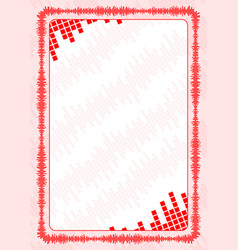 Frame and border with red volume levels for vector